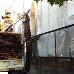 狭小地での廃材搬出