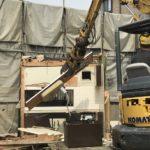 葛飾区での火災現場の解体工事